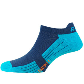 P.A.C. BK 1.1 Bike Footie Zip Socks Women neon blue